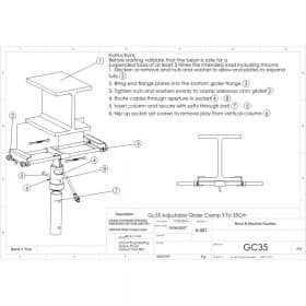 Additional Images For Unicol Gc35 Girder Clamp 9 To 35cm Flange 25mm.pdf