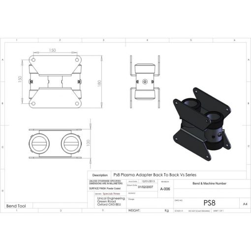 Additional Images For Unicol Ps8 Back To Back Adapter Unit