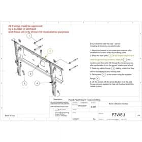 Unicol PZW8U Tilting Univeral Wall Mount