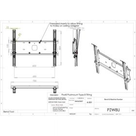 Additional Images For Unicol Pzw8u Tilting Univeral Wall Mount