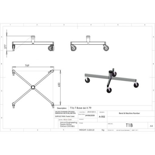 Additional Images For Unicol T1b Ultra Heavy Duty Single Column Base