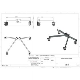 Additional Images For Unicol Vbr Standard VS1000 K Trolley Base Braked Version