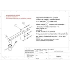 Unicol WB0 Peg Wall Arm For Projector