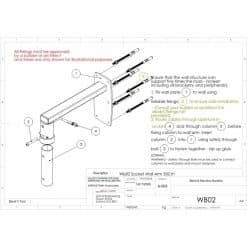 Unicol WB02 Female Socket Arm For Projector