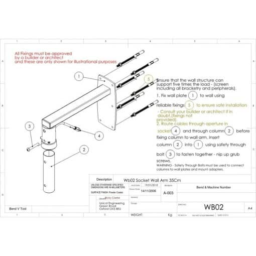 Additional Images For Unicol Wb02 Female Socket Arm For Projector 1