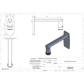 Additional Images For Unicol Wb02 Female Socket Arm For Projector