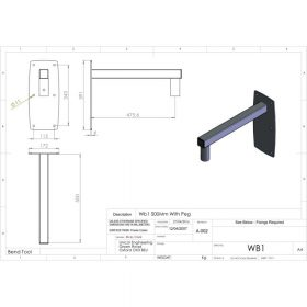 Additional Images For Unicol Wb1 Peg Wall Arm 46cm