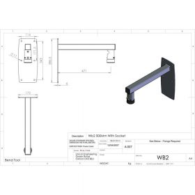 Additional Images For Unicol Wb2 Socket Wall Arm 46cm