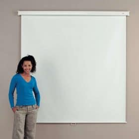 Metroplan 210301E Manual Wall Projector Screen Borderless 1250mm