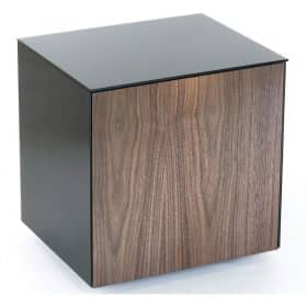 Frank Olsen INTELLAMPBLK-WAL Black Lamp Table Walnut Door