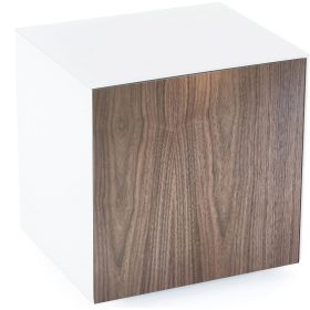 Frank Olsen INTELLAMPWHT-WAL White Lamp Table Walnut Doors