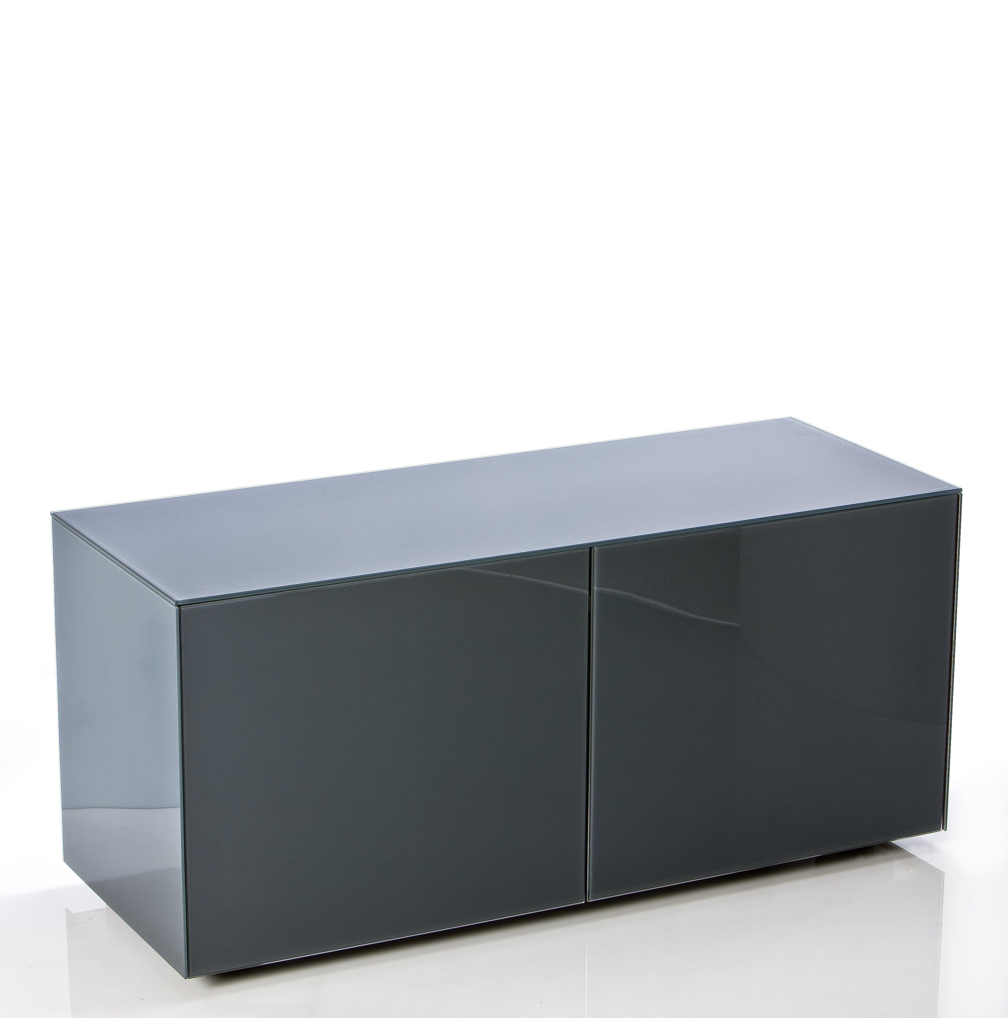 sports shoes 3db7a 87c1f Frank Olsen Furniture INTEL1100GRY High Gloss Grey 1100 TV Unit Cabinet