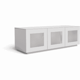 Frank Olsen CHIC 140 White TV Cabinet Gloss CHIC140WHT