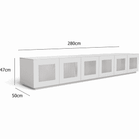 Frank Olsen CHIC280WHT CHIC Gloss White 280 cm Wide TV Unit Modular System