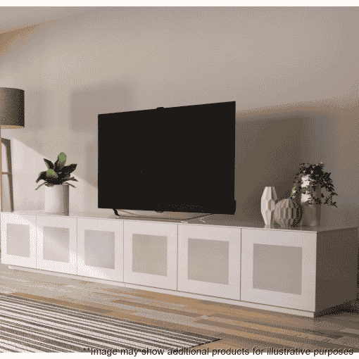 Lifestyle Home Setting Images For Frank Olsen Chic280wht Chic Gloss White 280 Cm Wide TV Unit Modular System
