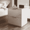 Main Image For Frank Olsen Intel Bed Wht White Gloss Bedside Cabinet Wireless Charging
