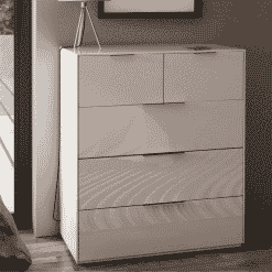 Frank Olsen INTEL PURE LARGE CHEST WHT Gloss White Large 3+2 Drawer Chest Wireless Charging