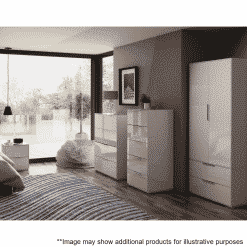 Lifestyle Home Setting Images For Frank Olsen Intel Tall Chest Wht Gloss White Tall 5 Drawer Chest Wireless Charging