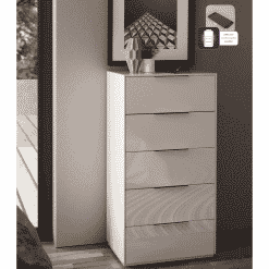 Additional Images For Frank Olsen Intel Tall Chest Wht Gloss White Tall 5 Drawer Chest Wireless Charging