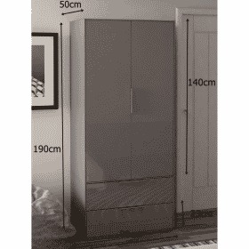 Frank Olsen INTEL PURE WARD GRY Grey Gloss Wardrobe