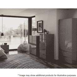 Lifestyle Home Setting Images For Frank Olsen Intel Ward Gry Grey Gloss Wardrobe