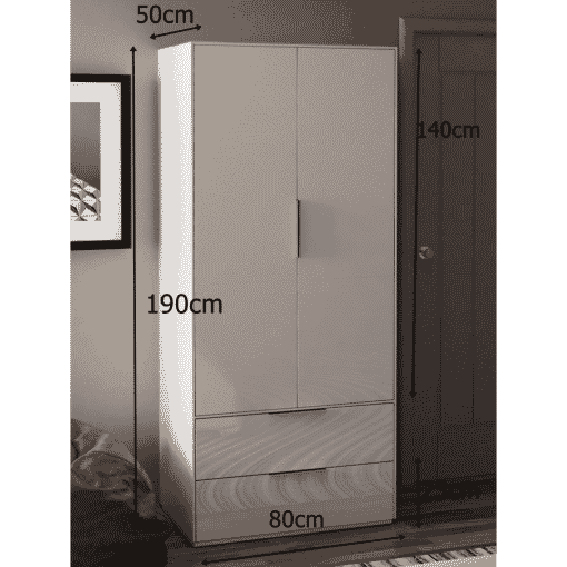 Dimensions Technical Drawing For Frank Olsen Intel Ward Wht White Gloss Wardrobe