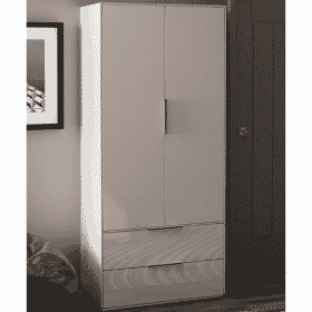 Frank Olsen INTEL PURE WARD WHT White Gloss Wardrobe