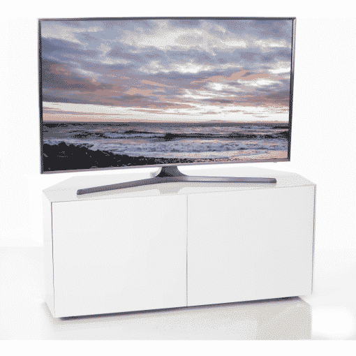 Additional Images For Frank Olsen Intel1100corner Wht 1100 Corner White TV Cabinet