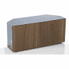 Main Image For Frank Olsen Intel1100cornergry Wal 1100 Corner Grey TV Cabinet Walnut Veneer Doors
