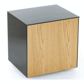 Frank Olsen INTELLAMPBLK-OAKV Lamp Table Black With Oak Veneer Door