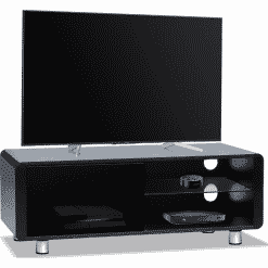 MDA Designs AMALFI 1200 Gloss Black TV Stand