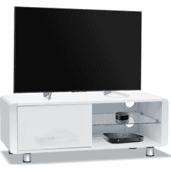 MDA Designs AMALFI 1200 Gloss White TV Stand