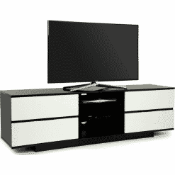 MDA Designs AVITUS 1580 Black White Gloss TV Stand