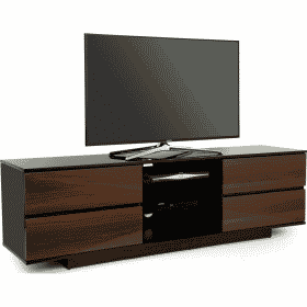MDA Designs AVITUS 1580 Gloss Black / Walnut TV Stand