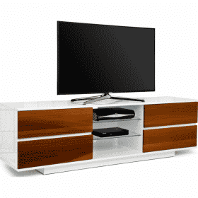 MDA Designs AVITUS 1580 Gloss White / Walnut TV Stand
