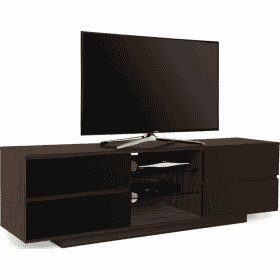 MDA Designs AVITUS 1580 Walnut / Gloss Black Drawer TV Stand