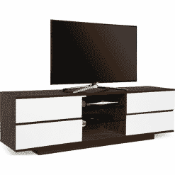MDA Designs AVITUS 1580 Walnut / Gloss White Drawer TV Stand