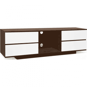Additional Images For MDA Designs AVitus 1580 Walnut Gloss White Drawer TV Stand