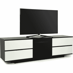 MDA Designs AVITUS ULTRA 1580 Black White Gloss TV Stand