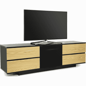 MDA Designs AVITUS ULTRA 1580 Gloss Black / Oak TV Stand