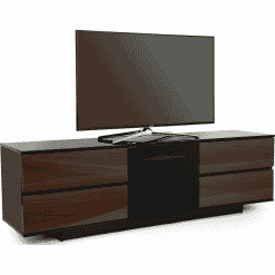 MDA Designs AVITUS ULTRA 1580 Gloss Black / Walnut TV Stand