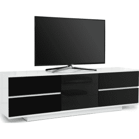 MDA Designs AVITUS ULTRA 1580 Gloss White / Black TV Stand
