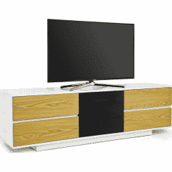 MDA Designs AVITUS ULTRA 1580 Gloss White / Oak TV Stand