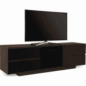 MDA Designs AVITUS ULTRA 1580 Walnut / Gloss Black Drawer TV Stand