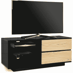 MDA Designs GALLUS 1100 Gloss Black / Oak TV Stand