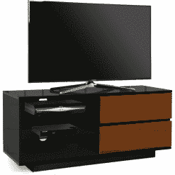 MDA Designs GALLUS 1100 Gloss Black / Walnut TV Stand