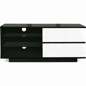 Additional Images For MDA Designs Gallus 1100 Gloss Black White TV Stand