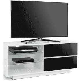 MDA Designs GALLUS 1100 Gloss White / Black TV Stand