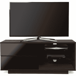 MDA Designs GALLUS 1100 Walnut / Gloss Black Drawer TV Stand