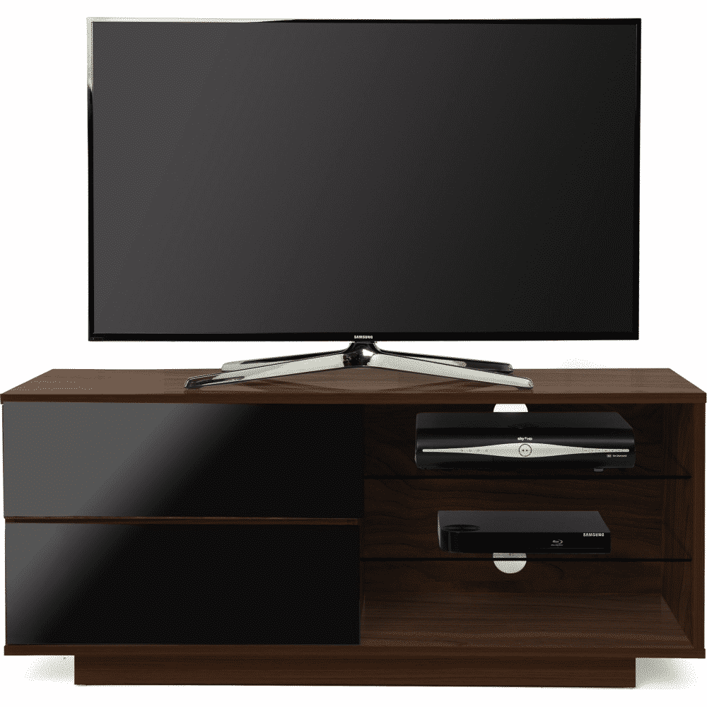 competitive price 224ff 63034 MDA Designs GALLUS 1100 Walnut / Gloss Black Drawer TV Stand